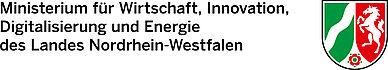 Logo des Ministerium für Wirtschaft, Innovation, Digitalisierung und Energie des Landes Nordrhein-Westfalen, Kooperationspartner des Kompetenzzentrums Digitalisierung